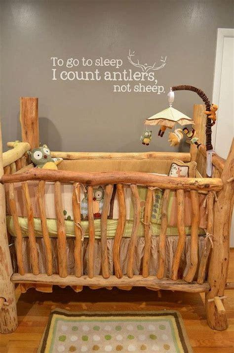 40 Adorable Nursery Decorating Ideas Renoguide Rustic Log Baby Crib