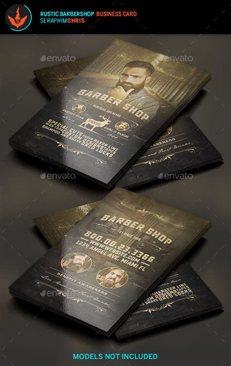 rustic business card template free rustic barbershop business card template by seraphimchris