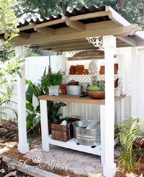 the potting bench the decorated house potting bench garden shed