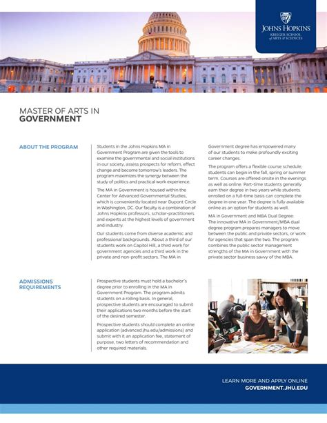 Johns Ma Mba Government by Fact Sheet Ma In Government By Johns