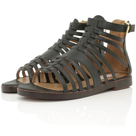 gladiator shoes buy posy flat gladiator sandal shoes black leather style