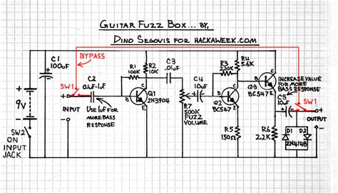 guitar effects schematics images
