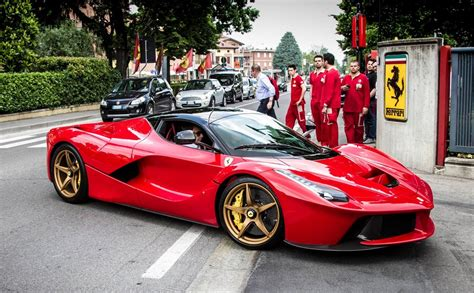 Gold Wheeled Laferrari Spotted At The Factory