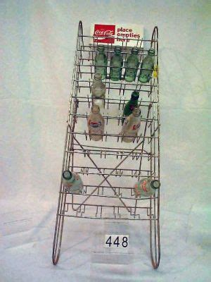 coca cola bottle rack w 10 bottles 273273