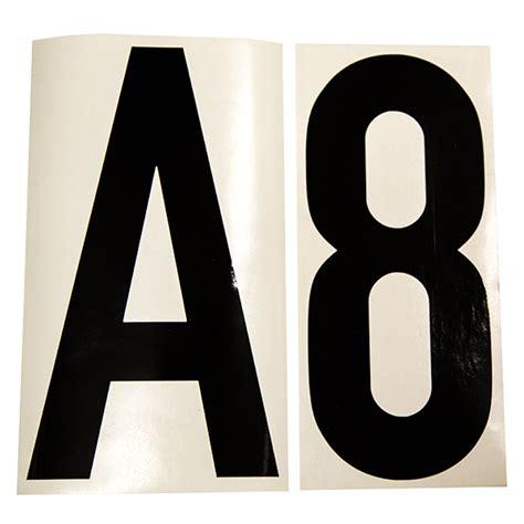 scheepvaart cijfers kleefletters en cijfers zwart 20cm femm