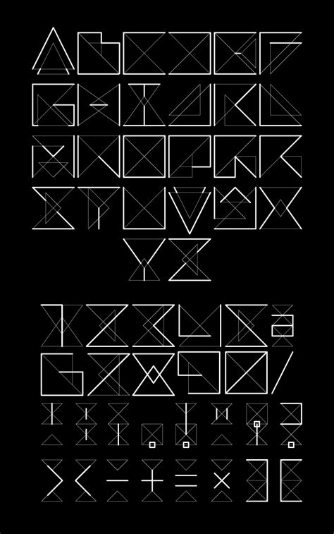 geometric tattoo letters geometric font for word tattoo tattoo ideas pinterest