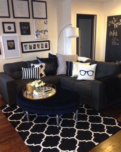 Living Room Accessories Target Mini Living Room Re Do Classic Black White And Gold