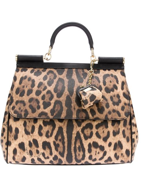 Dg Dolce And Gabbana Ocelot Print Tote by Dolce Gabbana Leopard Print Tote In Animal Leopard Lyst