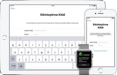 iphone u bul iphone umu bul etkinleştirme kilidi apple destek