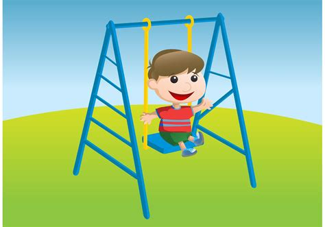 swinging with kid swinging vector download free vector art stock