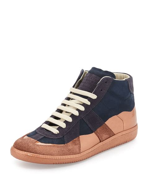 sneaker replica maison margiela replica multicolored leather high top