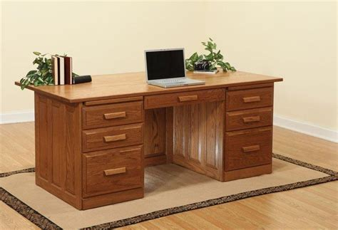 amish executive desk raised panels solid wood