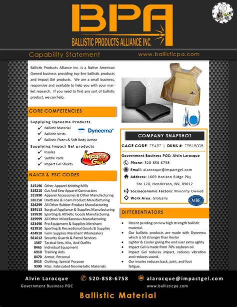 capability statement fedbiz access