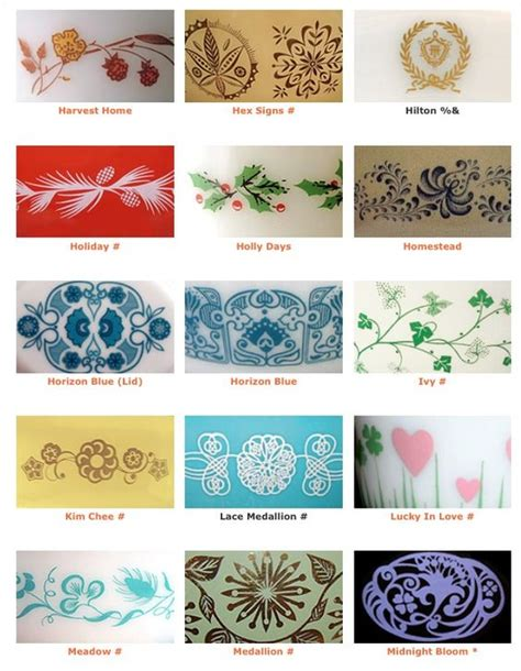 vintage pyrex pattern list vintage pyrex collections for the kitchen girlfriend is