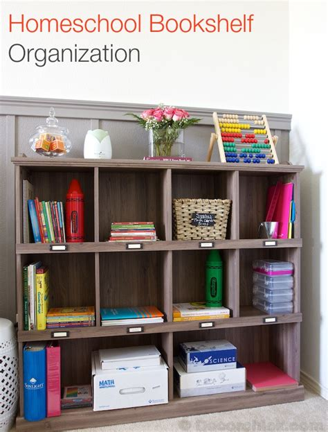 homeschool organization curriculum and new bookshelf