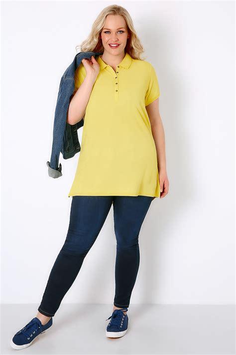 Tshirt Circle C3 t shirt de style polo jaune