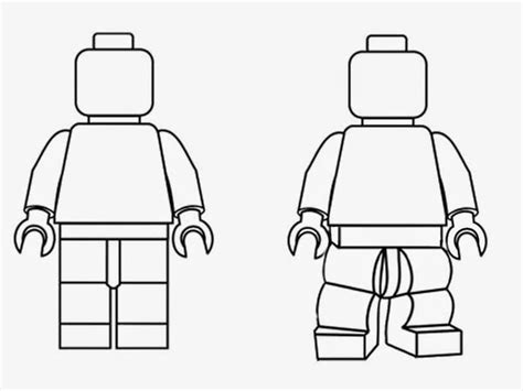 easy lego coloring pages simple black and white clipart lego minifigures outline