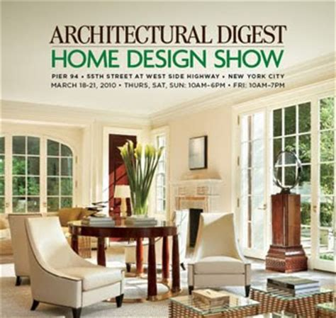 architectural digest home design show in new york city 3 graces architectural digest home design show
