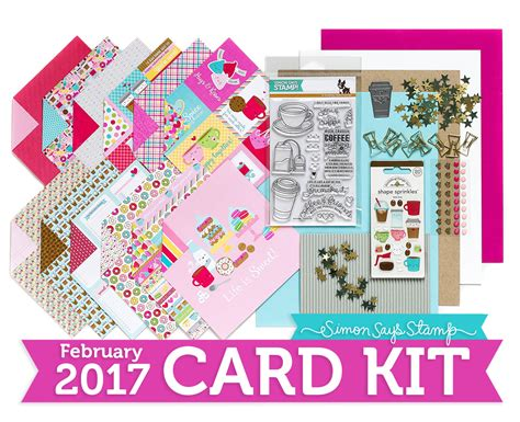 card kits coffee tea and cocoa simon says st card kit reveal and