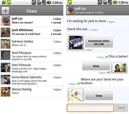whatsapp messenger for android whatsapp messenger for htc desire legend evo wildfire android