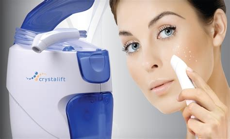 crystalift at home microdermabrasion system groupon