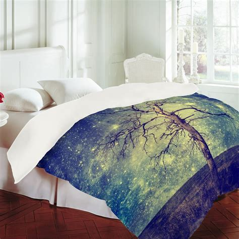 belle13 as old as time duvet cover trees home and starry nights