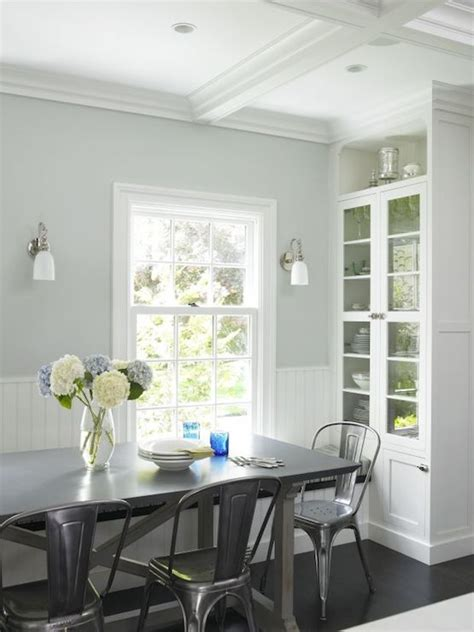 beadboard dining room window seat banquette contemporary dining room