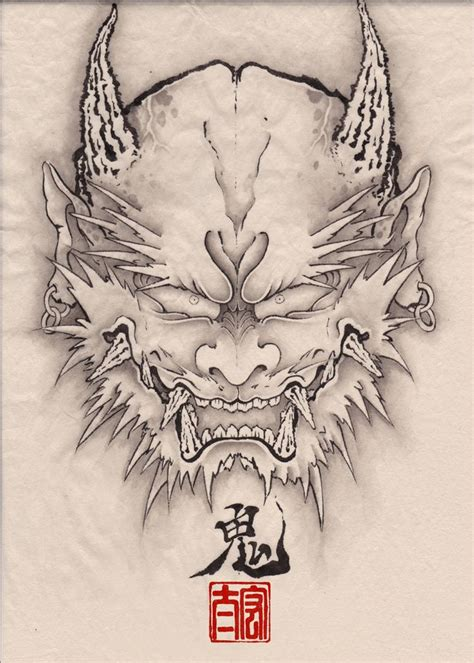 oni tattoo designs 157 best images about hanya on oni mask