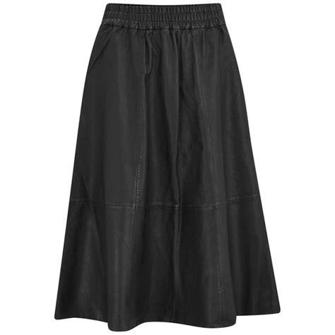 designers remix s erin midi length leather skirt