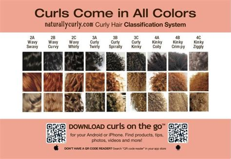 Curly Hair Types Chart by Curl Pattern Type Chart Info Charts Menus And More