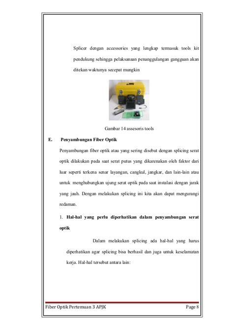 Alat Sambung Fiber Optik fiber optik