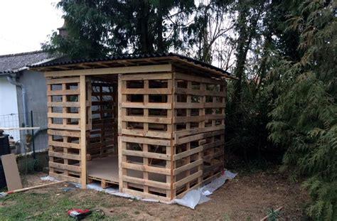 watabak storage shed   pallets