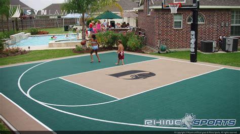 put  basketball court   backyard