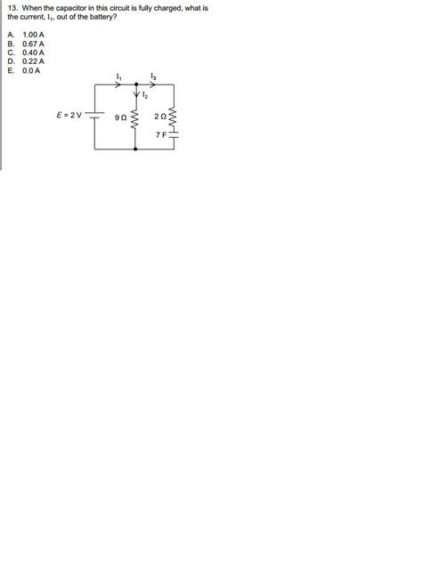 the capacitor in the circuit is fully charged 13 when the capacitor in this circuit is fully ch chegg