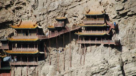 For The Ls Of China by Houses On The Trail At Huashan Mountain China The