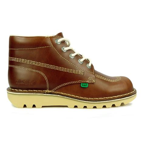 Kickers Balet Brown mens kickers boots kick hi leather boots www