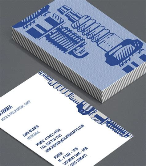 Mechanic Business Cards Templates Free by Mechano Mechanics Repair Workshops Car Enthusiasts And
