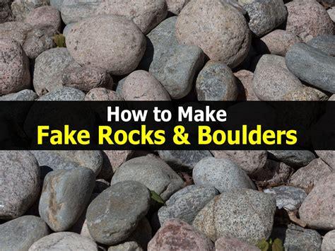 Artificial Garden Rocks How To Make Rocks Boulders