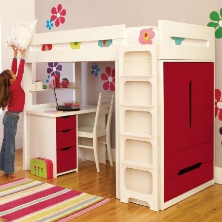 High Sleeper Beds With Wardrobe by High Sleeper Bed With Built In Wardrobe High Beds