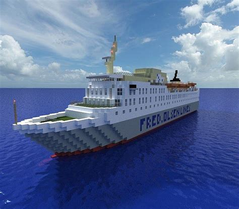 minecraft ferry boat m s bolette a ferry minecraft project