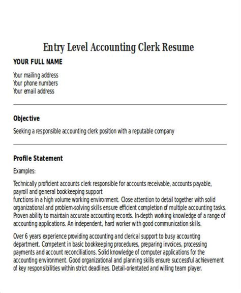 21 accountant resume templates download free premium