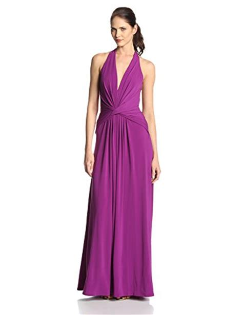 Dress Twis Flowy aesthetic official heritage women s halter jersey evening dress with twist detail