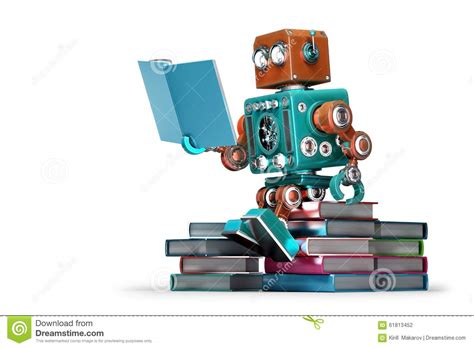 robot reading robot reading how to master your attention and focus your reading speed remember more learn faster and get more done in less time books retro robot reading a book isolated contains clipping