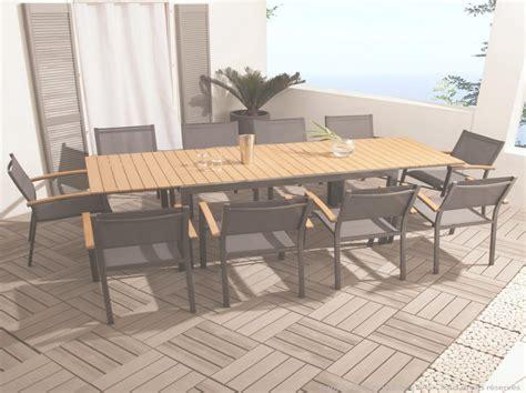 table jardin leclerc table de jardin bois leclerc mambobc