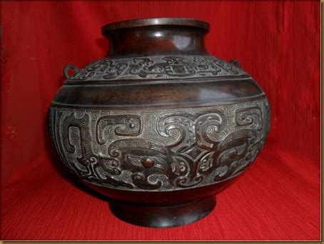 Timbangan Tembaga koleksi barang antik periuk perunggu china