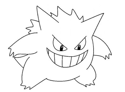 pokemon coloring pages haunter mobile pokemon haunter coloring pages