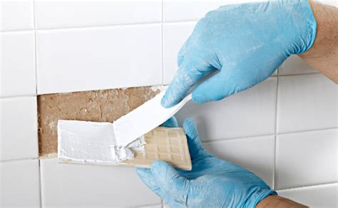 replace bathroom tiles replace a broken ceramic tile