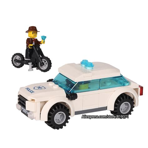 city series car motorcycle building blocks policeman models toys for children boy gifts