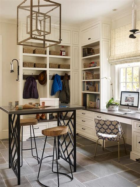 craft room  mudroom combo transitional laundry room