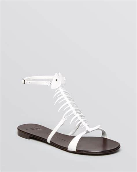 giuseppe zanotti fish sandals giuseppe zanotti flat sandals birel fish in white lyst